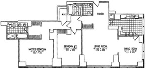 floorplan for 845 United Nations Plaza #41A