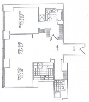 floorplan for 845 United Nations Plaza #20G