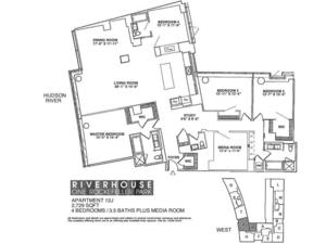 floorplan for 2 River Terrace #12J