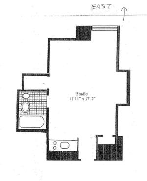 floorplan for 5 Tudor City Place #935