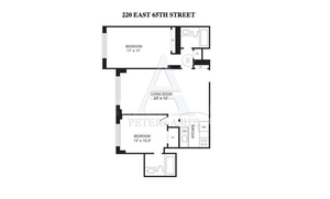 floorplan for 220 East 65th Street #24K