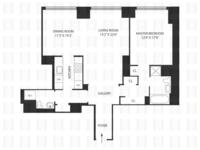 floorplan for 845 United Nations Plaza #23G