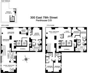 floorplan for 300 East 79th Street #PHCD