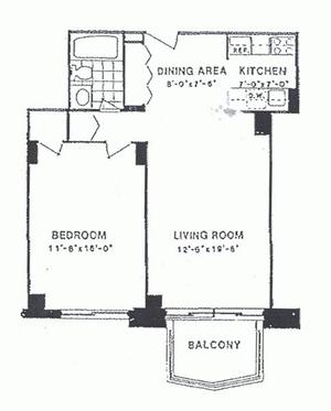 floorplan for 220 East 65th Street #7D