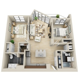 floorplan for 111 Kent Avenue #3B
