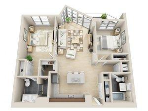 floorplan for 111 Kent Avenue #PH_B