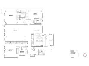 floorplan for 737 Park Avenue #9A