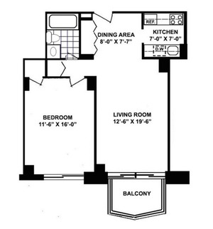 floorplan for 220 East 65th Street #8D