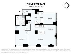 floorplan for 2 River Terrace #5D