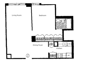 floorplan for 220 East 65th #8J