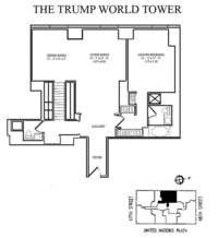 floorplan for 845 United Nations Plaza #17G