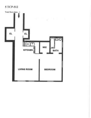 floorplan for 5 Tudor City Place #512