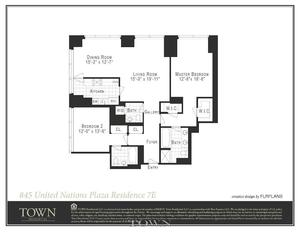 floorplan for 845 United Nations Plaza #25E