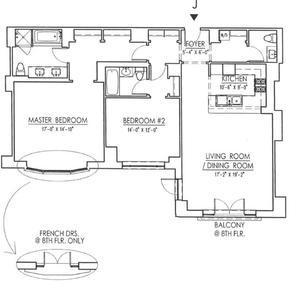 floorplan for 15 Central Park West #7J