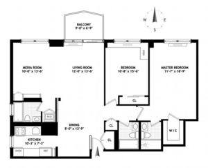 floorplan for 220 East 65th Street #3C
