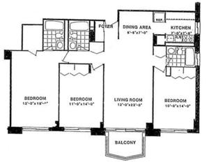 floorplan for 220 East 65th #19G