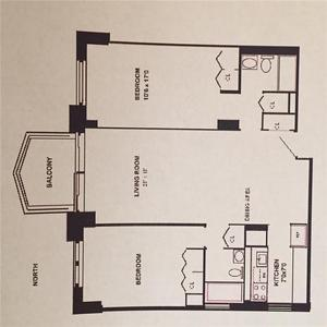 floorplan for 220 East 65th Street #24H