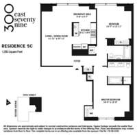 floorplan for 300 East 79th Street #5C