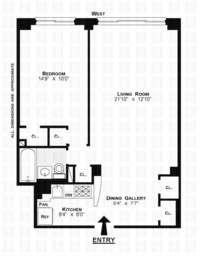 floorplan for 200 East 36th Street #11C