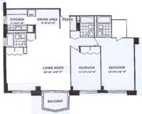floorplan for 220 East 65th Street #21G