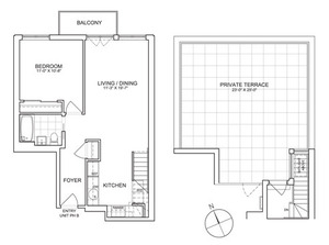 floorplan for 461 West 150th Street #PHB