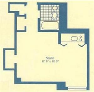 floorplan for 5 Tudor City Place #1915