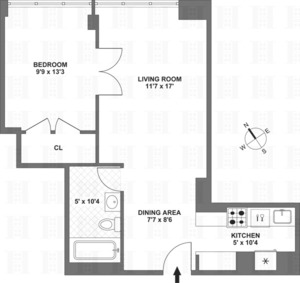 floorplan for 61 West 62nd Street #5A