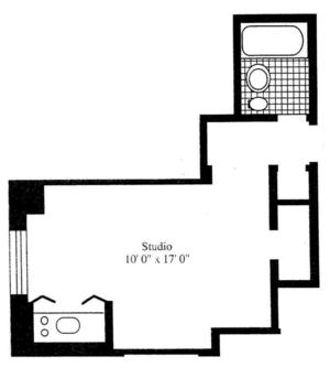 floorplan for 5 Tudor City Place #910
