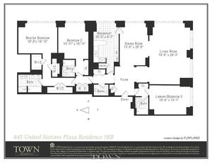 floorplan for 845 United Nations Plaza #58B