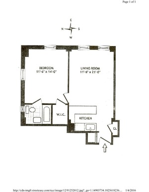 floorplan for 5 Tudor City Place #532