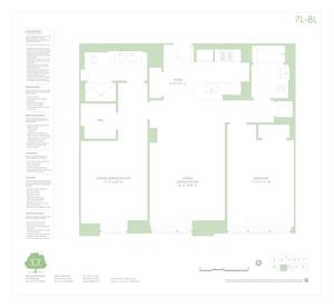 floorplan for 303 East 33rd Street #7L