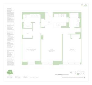 floorplan for 303 East 33rd Street #7L