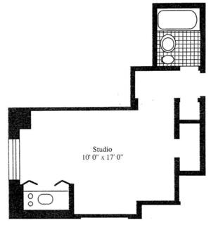 floorplan for 5 Tudor City Place #414