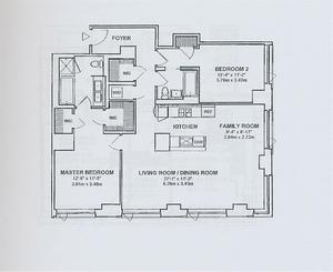 floorplan for 2 River Terrace #9D