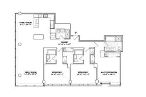 floorplan for 2 River Terrace #24D