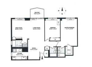 floorplan for 220 East 65th #3C