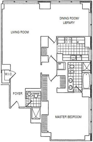 floorplan for 845 United Nations Plaza #59E