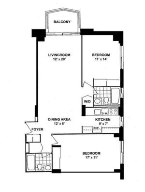floorplan for 220 East 65th Street #22M