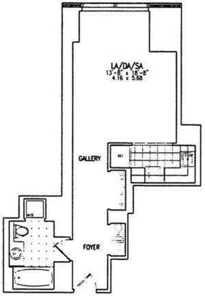 floorplan for 845 United Nations Plaza #17F