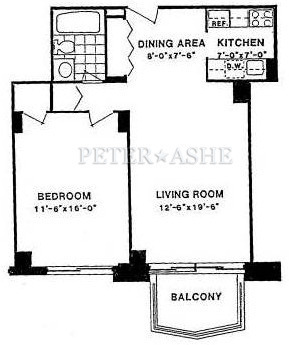 floorplan for 220 East 65th Street #4D