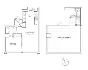 floorplan for 461 West 150th Street #PHA