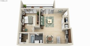 floorplan for 111 Kent Avenue #3K