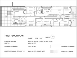 floorplan for 397 1st Street #1L