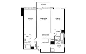 floorplan for 220 East 65th Street #15B