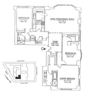floorplan for 15 Central Park West