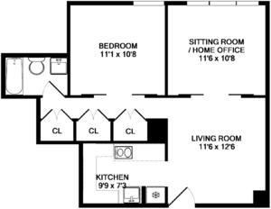 floorplan for 220 East 65th Street #18A