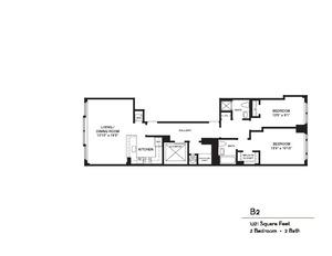 floorplan for 37 West 21st Street #3
