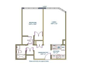 floorplan for 61 West 62nd Street #11L