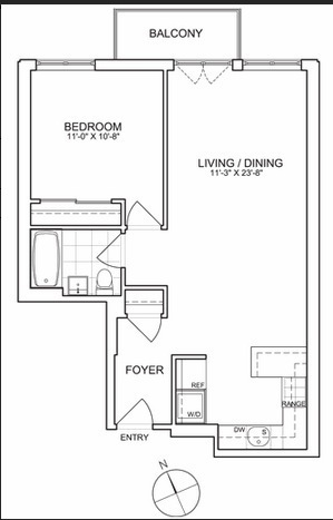 floorplan for 461 West 150th #5B