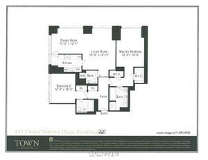floorplan for 845 United Nations Plaza #22E